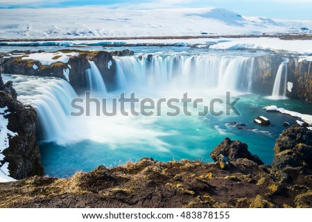 Godafoss, One of the most famous waterfalls in Iceland.