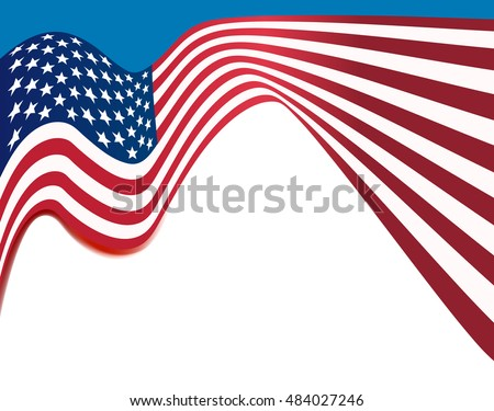 american flag background, usa national colors wavy background #484027246