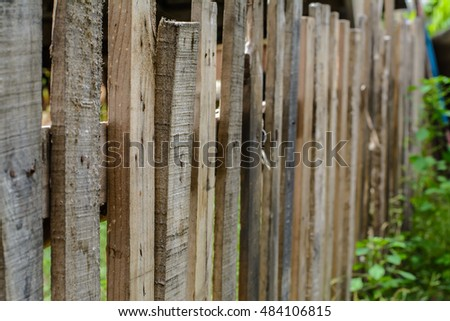 wooden fence #484106815