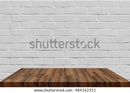 wooden shelf isolated on background #484162351