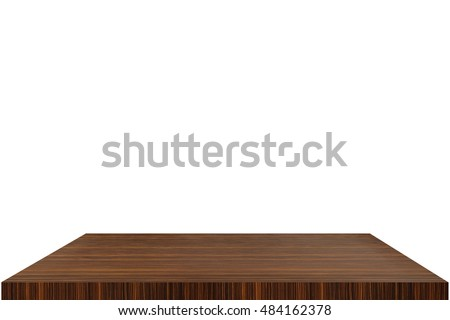 wooden shelf isolated on background wood can be used  display and Everything #484162378