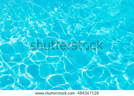 Pool water background with the sun reflecting. #484367128