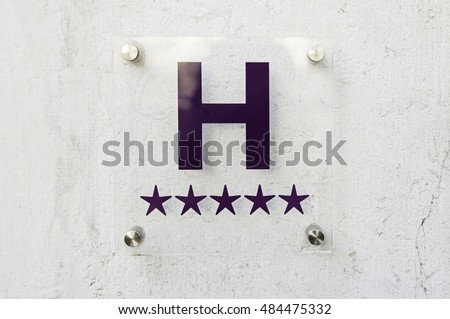 Sign luxury hotel detail hotel five star luxury and elegance