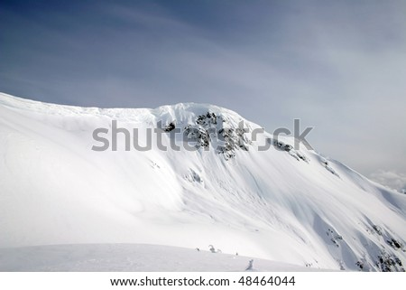 A view of winter mountain snow peak near BC, Canada. #48464044