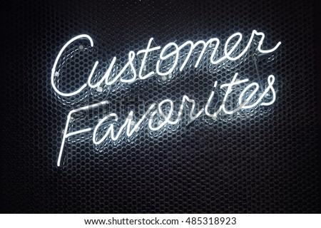 Neon Lettering font script Light type Retail shop Business Signage Customer Favorites