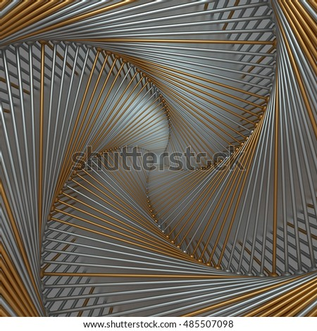 3d rendering abstract background with repeat of wireframe structures. clones of primitive geometric shapes around center of screen.  #485507098