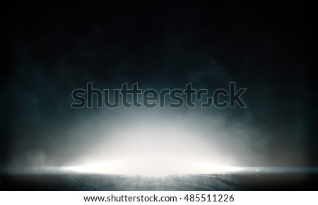 Abstract background with light and reflection.3d Rendering. #485511226