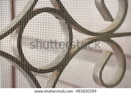 mosquito wire screen and curved steel for home #485820289