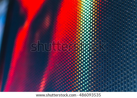 Bright colored LED video wall with high saturated pattern - close up background with shallow depth of field #486093535