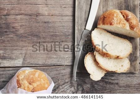 Crusty bread  #486141145