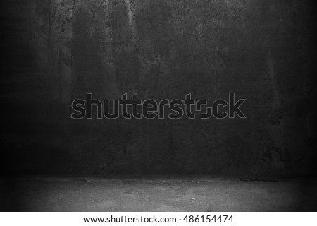 Old black wall background. Dark texture #486154474