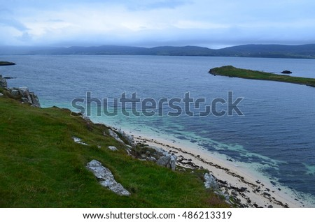 Claigan coral beach located on the Isle of Skye in Scotland. #486213319
