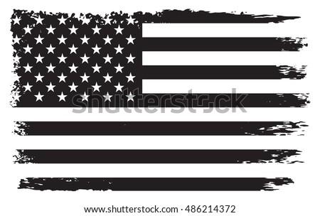 Grunge USA flag.Old American flag.Vector template.