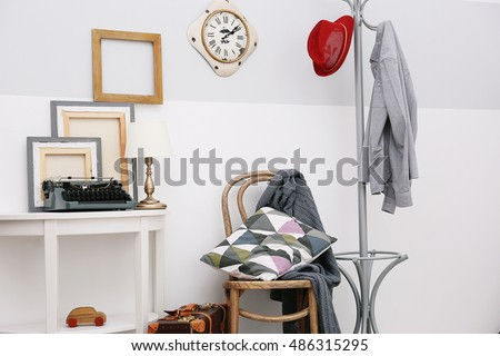 Modern room interior in vintage style #486315295