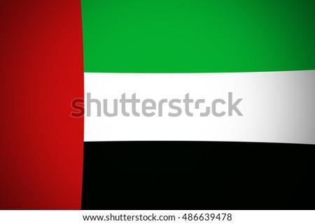 United Arab Emirates flag ,original and simple United Arab Emirates flag,UAE #486639478