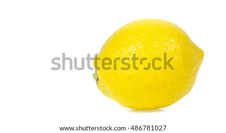 Fresh lemon isolated on white #486781027