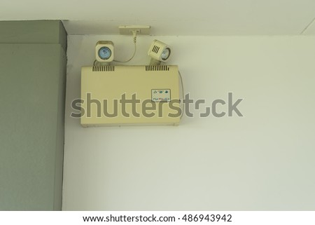 emergency light for safety tool on wall - can use to display or montage on product #486943942