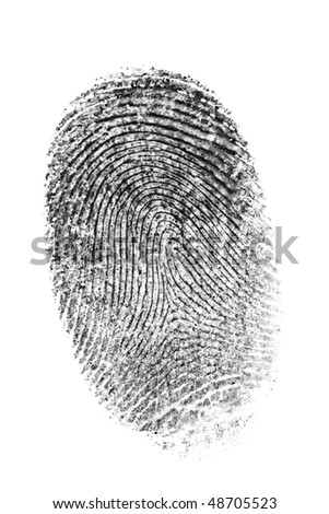 Finger print isolated on the white background. #48705523