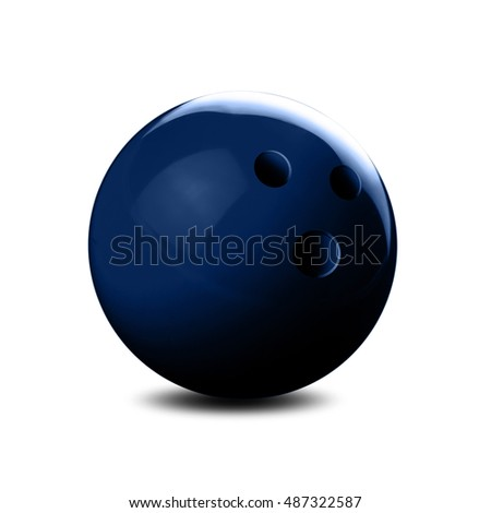 Bowling ball on white Background #487322587