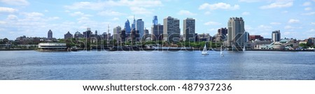 Panorama of Philadelphia Skyline