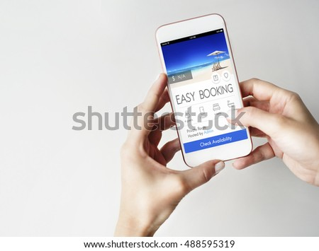 Booking Ticket Online Reservation Travel Flight Concept #488595319