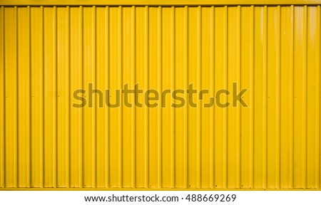 Yellow box container striped line textured #488669269