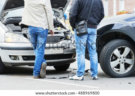 traffic automobile crash accident in city street #488969800