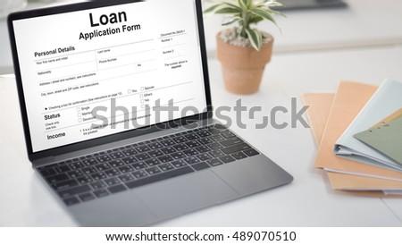 Retirement Plan Loan Liability Tax Form Concept #489070510