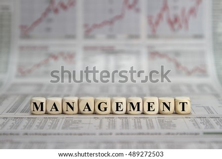 Management word on a business newspaper background #489272503
