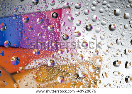 Background with water drop. Colour abstract and bubbles #48928876