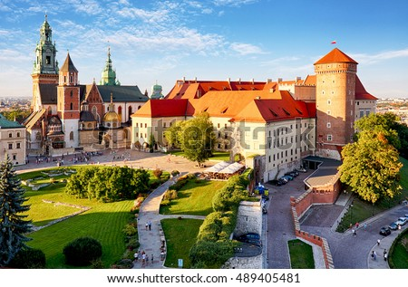 Krakow - Wawel castle at day Royalty-Free Stock Photo #489405481