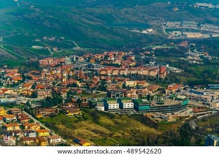 aerial view of san marino #489542620