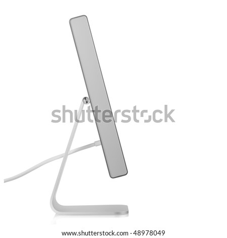 Computer Monitor. Side view, isolated on white background #48978049