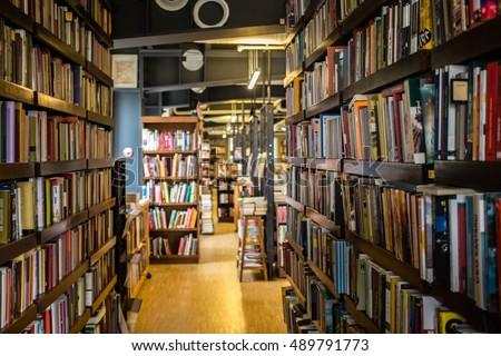 National library, bookshelves, literature.