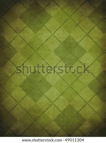 Green Argyle