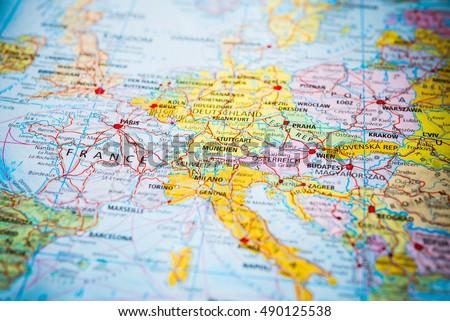 Europe. Royalty-Free Stock Photo #490125538