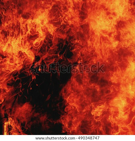 background of fire as a symbol of hell and eternal torment #490348747