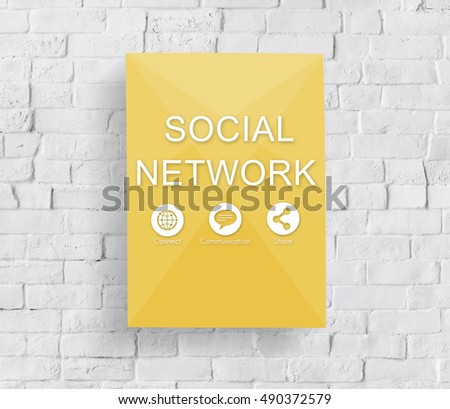 Global Networking Share Social Media Graphic Concept #490372579