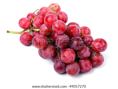 Grapes isolated on white background with shadows #49057270