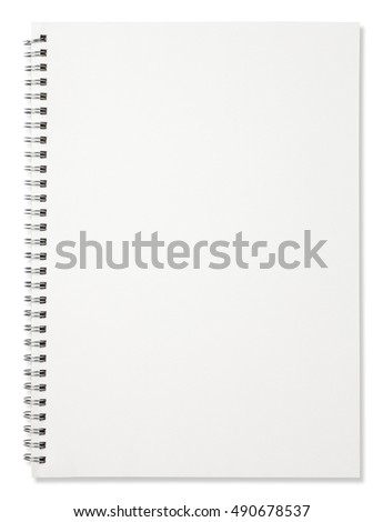 Blank spiral notebook isolated on white background #490678537