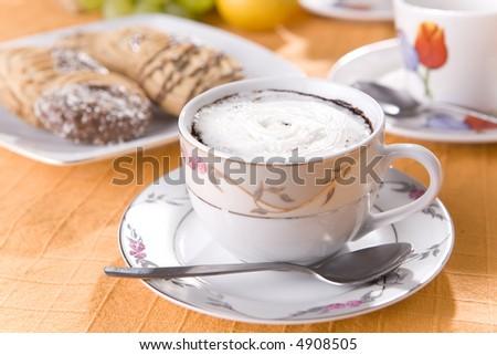 Fresh coffee and cookies #4908505