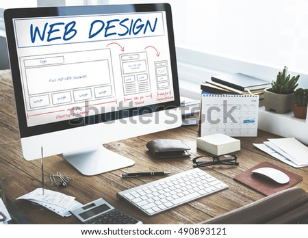 Web Design Layout Content Template Graphic Concept