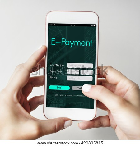 Internet Online Banking Pay Concept #490895815