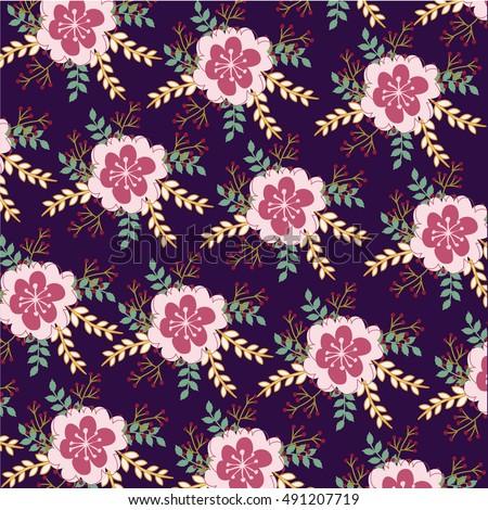 Flower Pattern #491207719