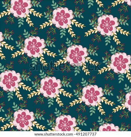 Flower Pattern #491207737