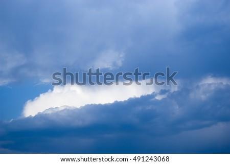 Clouds. Heavenly landscape #491243068