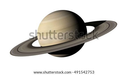 3d rendering of the planet Saturn isolated over white background. Elements of this image furnished by NASA