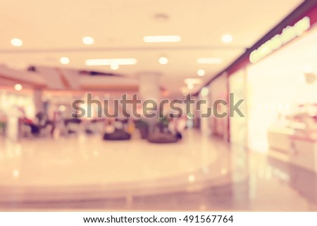 shopping mall blurred background #491567764