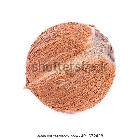 Coconuts isolated on white background #491572438