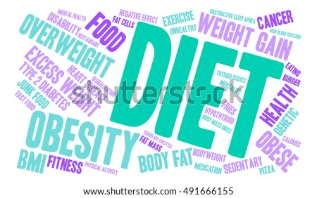 Diet word cloud on a white background.  #491666155